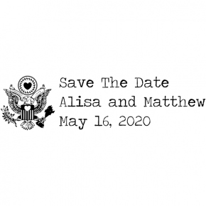save-the-date Rectangle Stamp