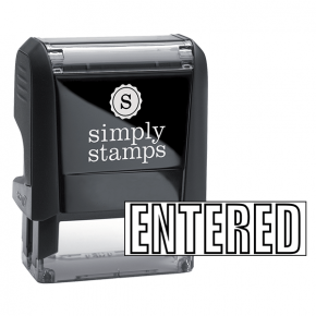 ENTERED Outline Stock Stamp