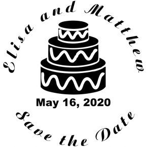 save the date Cake stamper