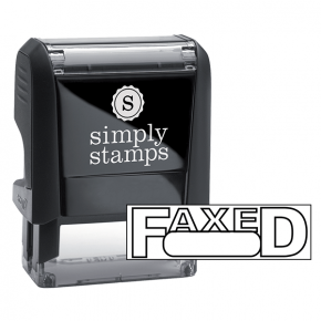 FAXED Wrapped Box Stock Stamp