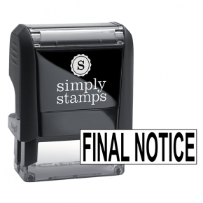 FINAL NOTICE Stock Stamp