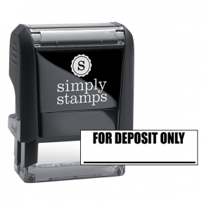 FOR DEPOSIT ONLY with Line Stock Stamp