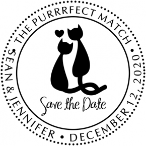 Purrrfect Match Save the Date Stamp