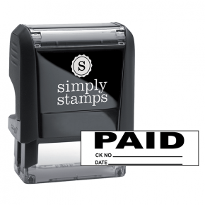 PAID Plus Info Stock Stamp