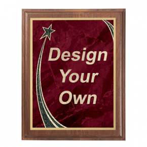 Rising Star Walnut Plaque - 8x10 - choose your plate color