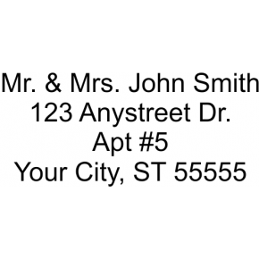 4 Line Personalized Address Stamp