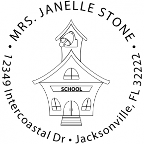 School house Custom Teacher Stamp