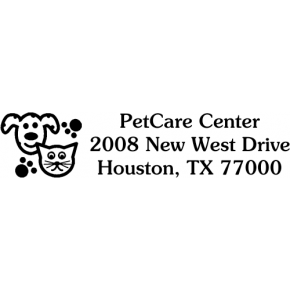 Dog & Cat Address Stamp