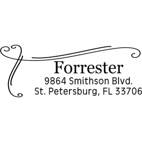 Forrester Heart Border Address Stamp