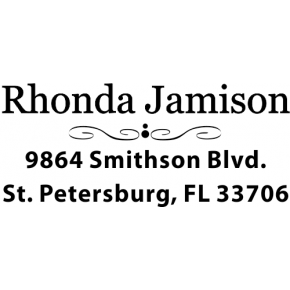 Jamison Middle Deco Address Stamp