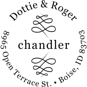 Chandler Round Address Stamp