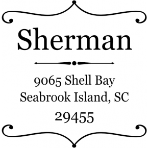 Square Deco Address Stamp