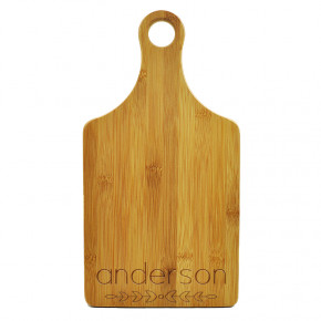 Anderson Last Name Paddle Cutting Board