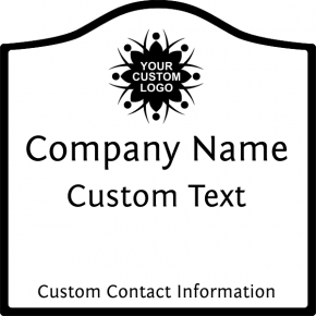 Arch Border Business Door Decal | Multiple Sizes