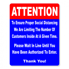Attention Sign for Social Distancing