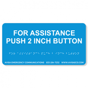Avisa Emergency Communications - 2 Inch Button  Braille Sign