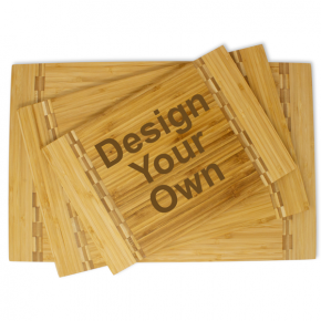 Personalize Your Own Rectangular Inlaid Cutting board | Horizontal