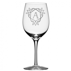 Casual Crest Wine Glass