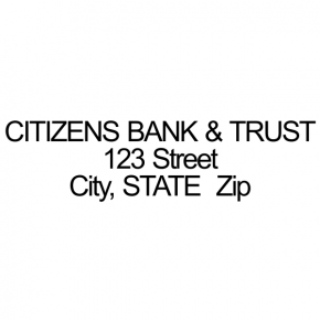 Citizens Bank & Trust - Address Stamp