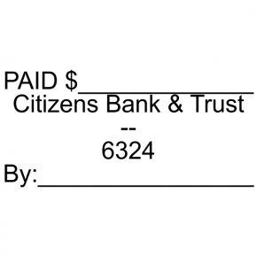 Citizens Bank & Trust - Paid Stamp