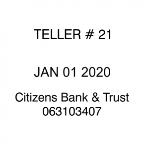 Citizens Bank & Trust - Teller Stamp