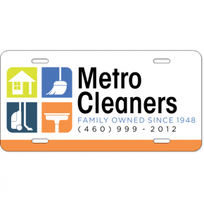 Cleaning Logo Industry Custom License Plate