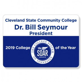 Cleveland State Comm. College - Name Tag - Design 2