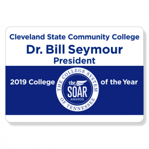 Cleveland State Comm. College - Name Tag - Design 1