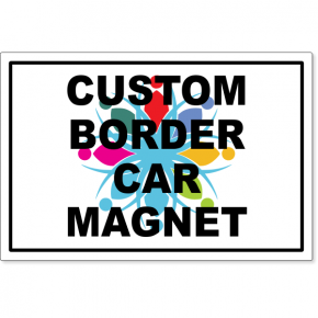"Custom Border Magnetic Sign 12"" x 18"" 