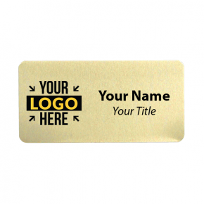 1.5 x 3 Gold Name Tag