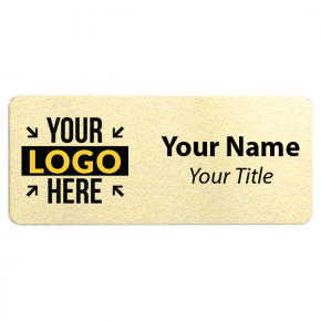 1.5 x 3.5 Gold Name Tag