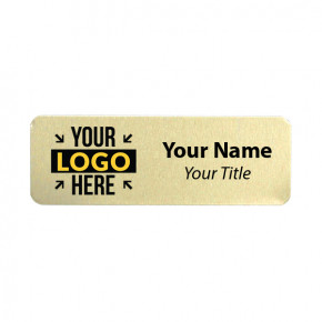 1 x 3 Gold Name Tag
