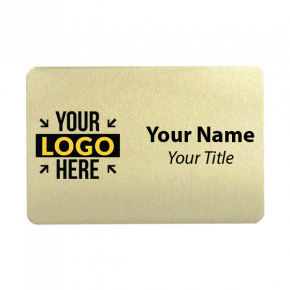 2 x 3 Gold Name Tag
