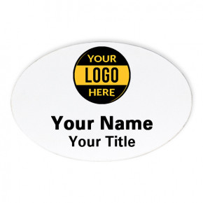Oval 2 x 3 Name Tag
