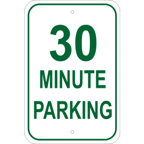 "Custom Minute Parking Aluminum Sign | 18"" x 12"""