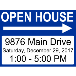 Basic Open House Arrows Sign