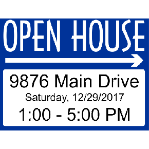 Fancy Open House Arrows Sign