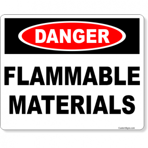 """Danger Flammable Materials Full Color Sign 