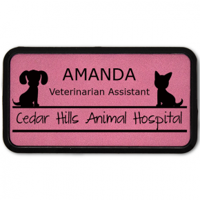 Dog and Cat Large Leatherette Name Tag