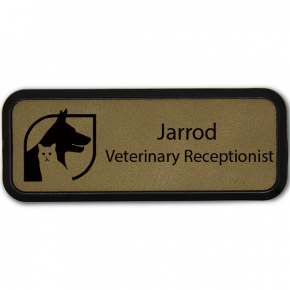 Dog and Cat Leatherette Name Tag
