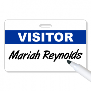 Reusable Visitor Pass Name Tag