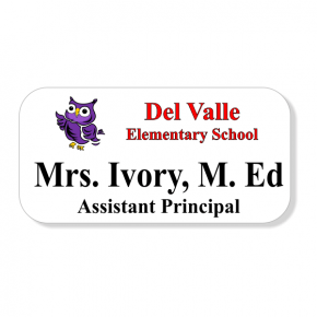 Del Valle ISD - Elementary - Two Line Name Tag