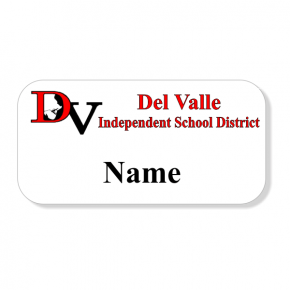 Del Valle ISD - One Line Name Tag
