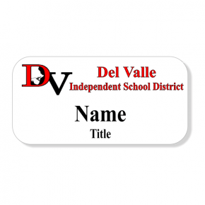 Del Valle ISD - Two Line Name Tag