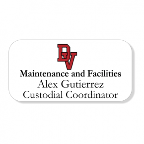 Del Valle ISD - Facilities and Maintenance Name Tag