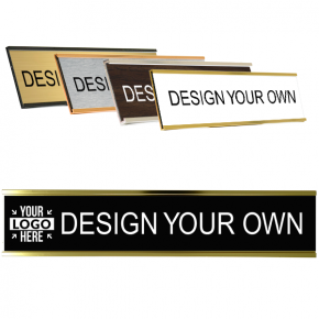 Engraved Plastic Wall Name Plate with Aluminum Holder