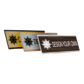 """Engraved Wall Name Plate w/ Alum Holder 