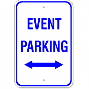 Event Parking Sign with Double Arrow