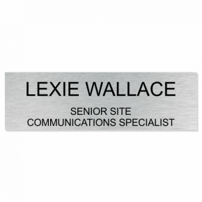 Exelon Corporation - 3x10 - 3 Line Name Sign
