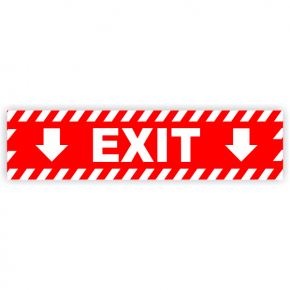 Exit Vinyl Decal Down Arrows